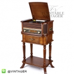 TR-180 TCU + table set เครื่องเล่นแผ่นเสียง+เทปคาสเซ็ท+ วิทยุ +CD+USB-MP.3+ AUX input