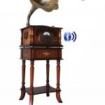 GHT-330 CUB เครื่องเล่นแผ่นเสียงโบราณ+bluetooth-บลูธูท+วิทยุ+CD+MP3+ชุดโต๊ะขาตั้ง-ลำโพงซับวูฟเฟอร์