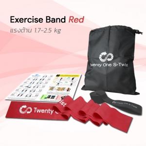 ยางยืดออกกำลังกายแบบแผ่น Exercise Band Red