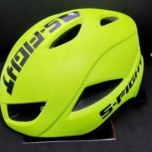 หมวกแอโร่ S-Fight รุ่น GH-11 สีเหลืองนีออน ผลิตไซส์ M และ L