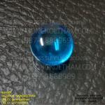 เพชรพญานาค รูปวงกลม 0.8 ซม. สีฟ้า ( เป็นสีที่หายากมาก )