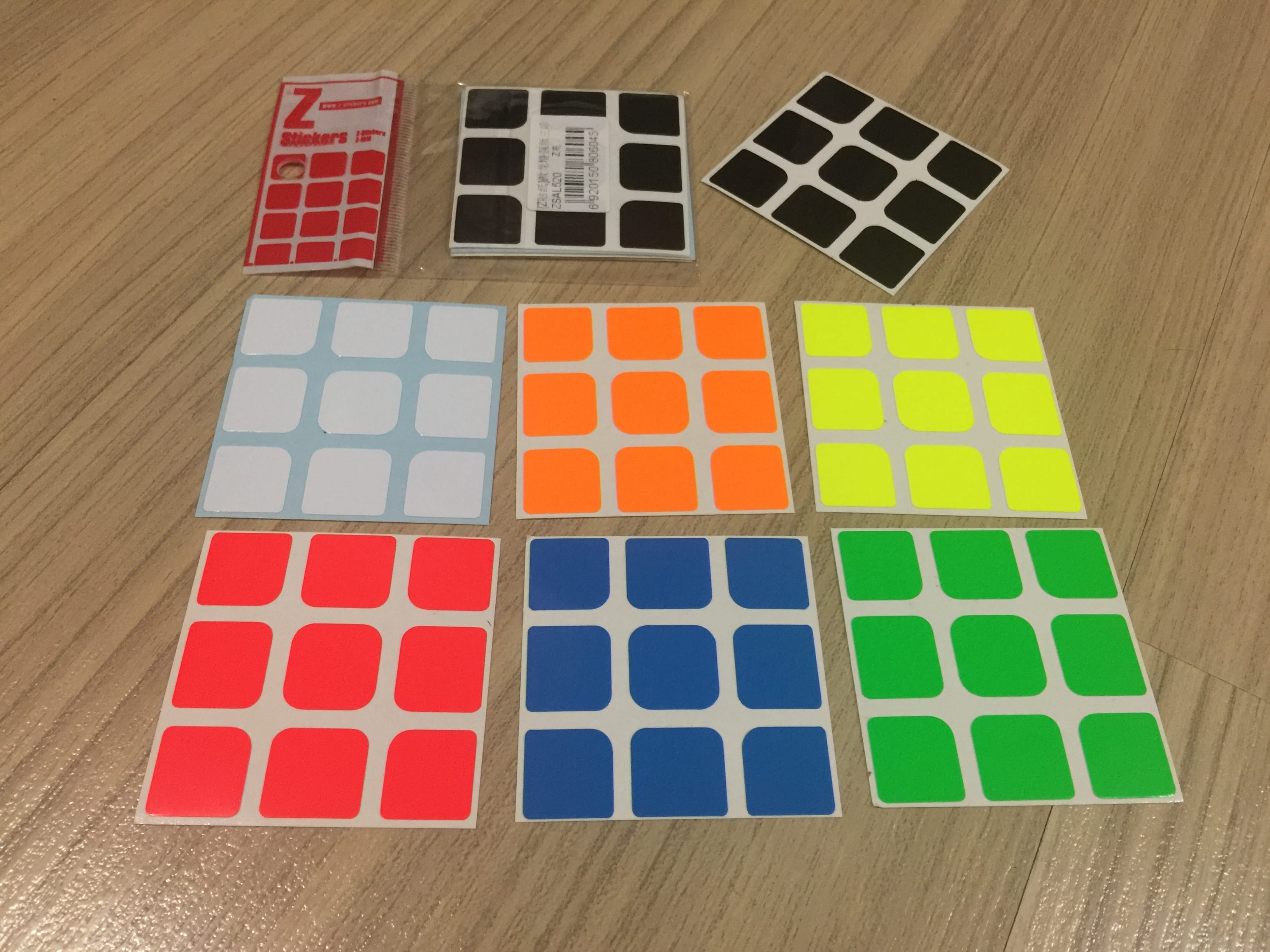 Z-Stickers for MoYu AoLong 3x3x3 Z-Bright [ZSAL520]