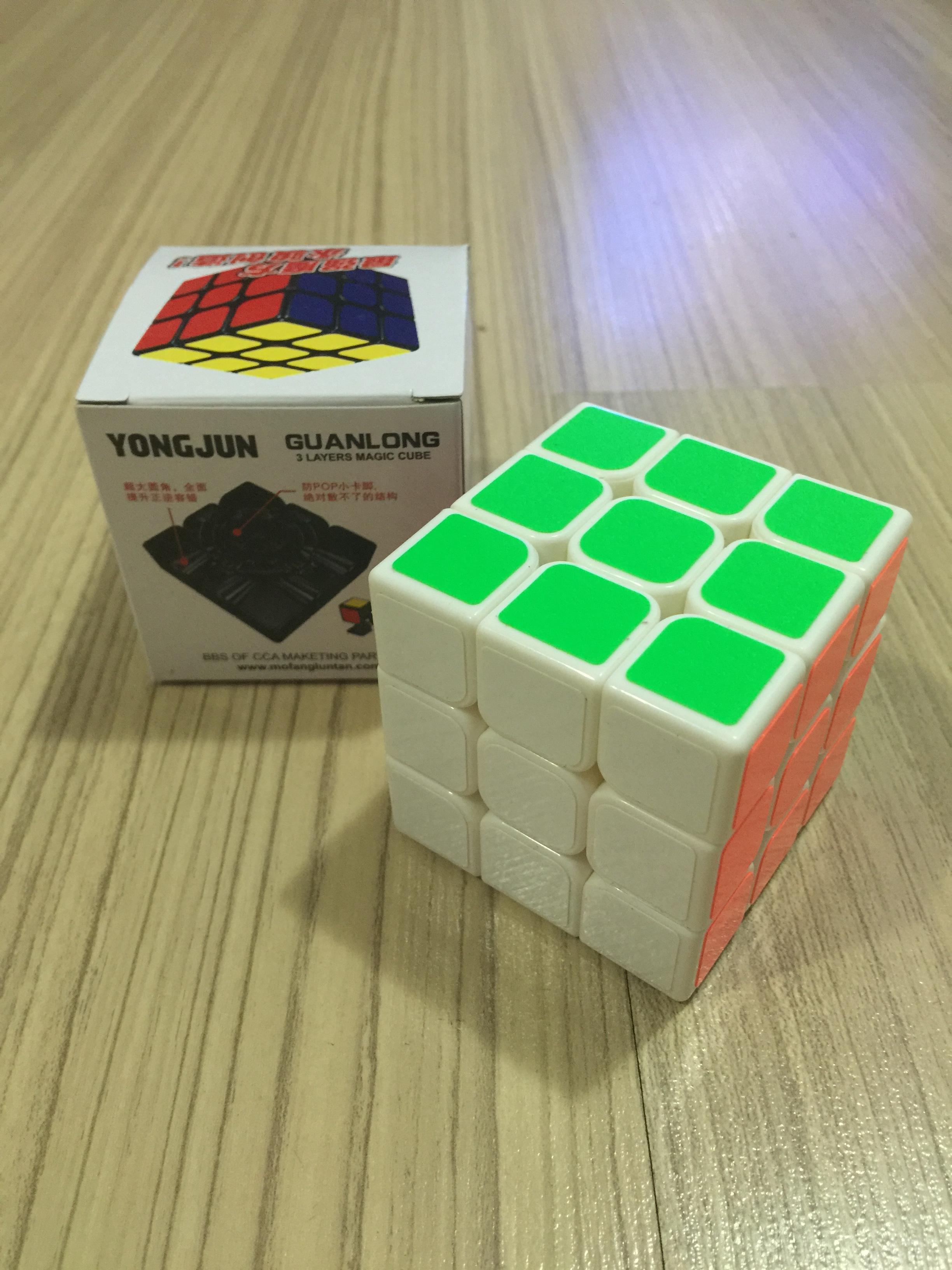 MoYu GuanLong 3x3x3 56mm White Speed Cube