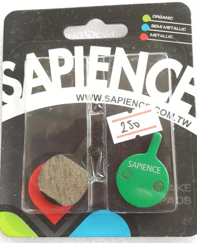 ผ้าเบรคดิสก์เบรค Sapience ใช้ได้กับคาลิปเปอร์เบรค Shimano Tektro Hayes บางรุ่น มีหลายขนาด สินค้า Made in Taiwean
