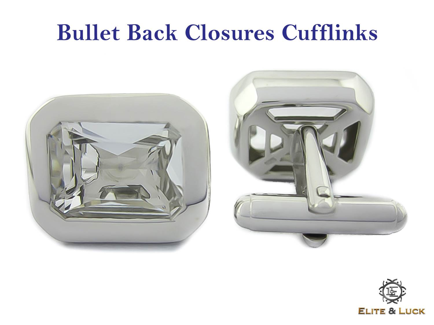 Bullet Back Closures Cufflinks