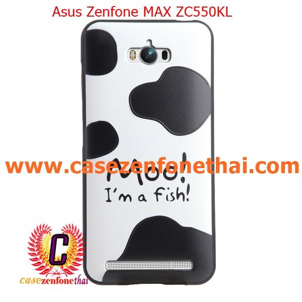 เคส asus zenfone max zc550kl TPU พิมพ์ลาย 3D COW