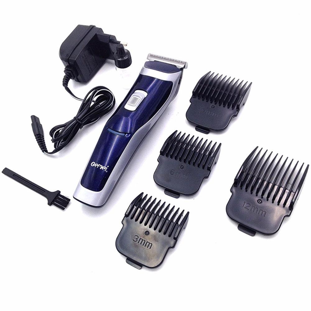 [GEMEI] ปัตตาเลี่ยนไฟฟ้าสีน้ำเงิน/เงิน แบตตาเลี่ยนไร้สาย แบตเตอร์เลี่ยนตัดผมเด็ก แบตเตอเลี่ยนตัดผมชาย อุปกรณ์แต่งผมชาย SILVER Titanium Steel Blade Rechargeable Professional Hair Clipper For Men & Women
