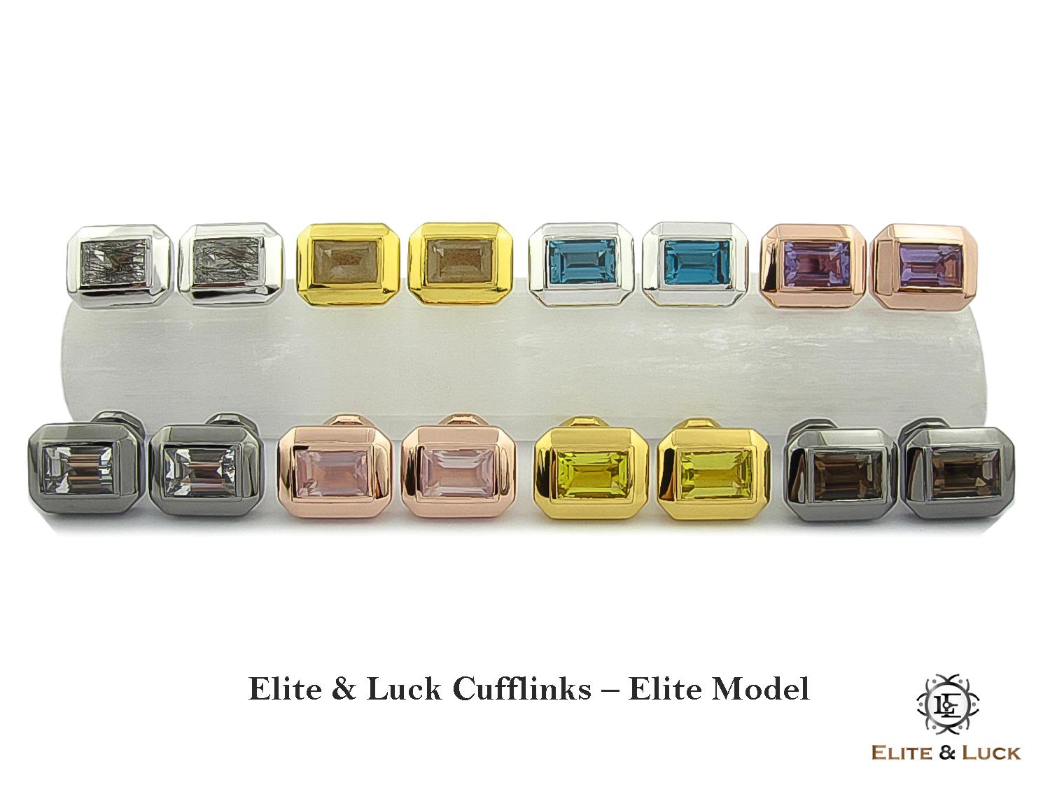 Elite & Luck Gemstone Cufflinks for Men, Elite Model