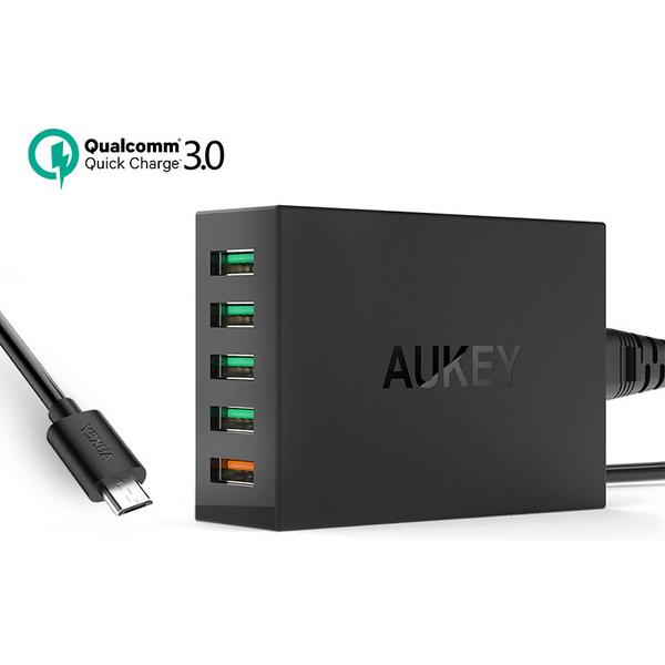 Aukey 5 Ports PA-T15 Quick Charger 3.0 ชาร์จเร็ว 5 ช่อง (มาใหม่ เวอร์ชั่น 3.0)