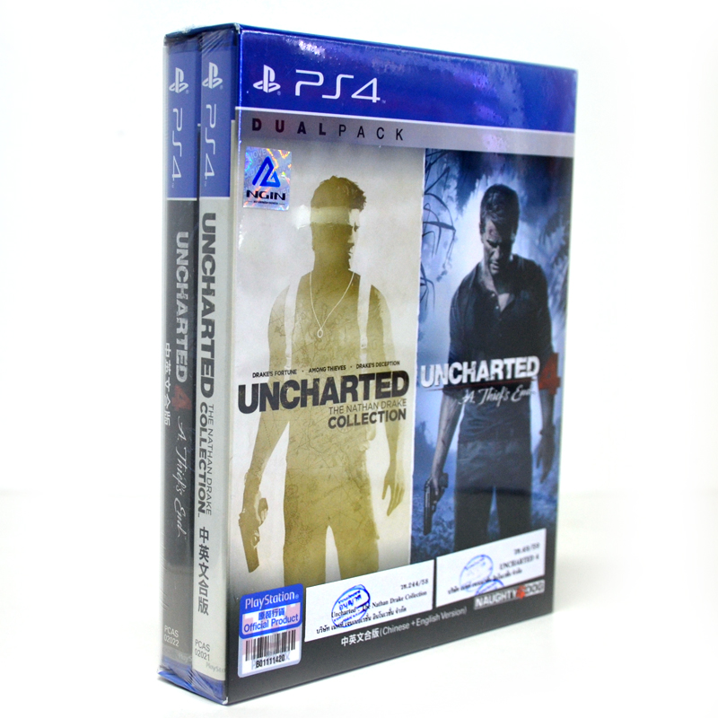 PS4™ Dual Pack (2 Games) Uncharted Collection / Unchated 4 Zone 3 Asia / English ** ส่งฟรี **