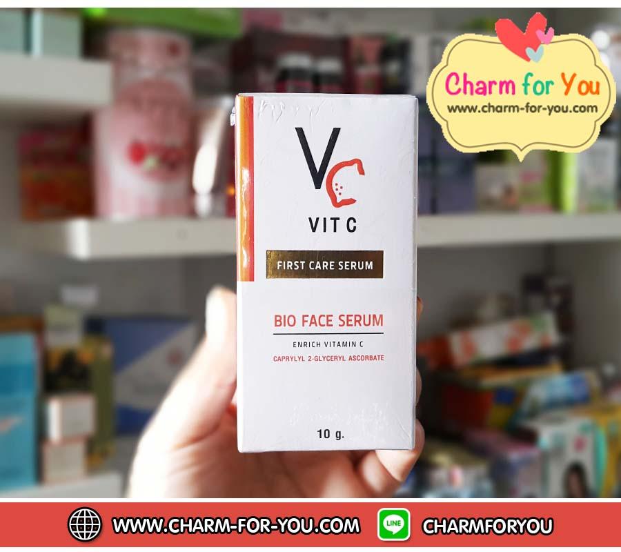 Vit C Bio Face serum รัชชาวิตซี ไบโอ เฟส เซรั่ม น้องฉัตร - charm for you ขายส่งเครื่องสำอาง ขายส่งอาหารเสริม ขายส่งสินค้ากระแสความงาม ของแท้ ปลีก-ส่ง