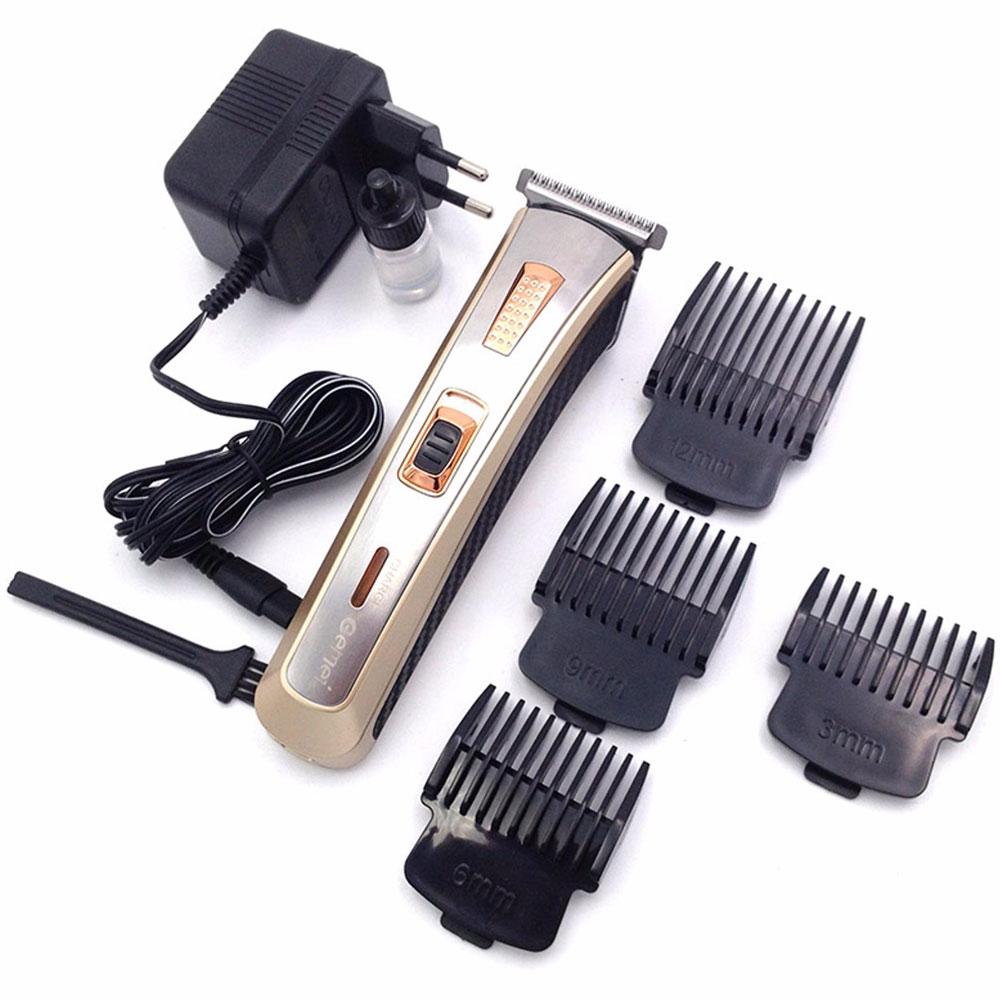 [GEMEI] แบตตาเลี่ยนไฟฟ้าสีทอง ปัตตาเลี่ยนแกะลาย แบตเตอเลี่ยนเด็ก แบตเตอร์เลี่ยนตัดผมเด็ก ที่ตัดผมเด็ก ที่ตัดผมชาย GOLD Rechargeable Professional Hair Clipper For Kids, Men & Women