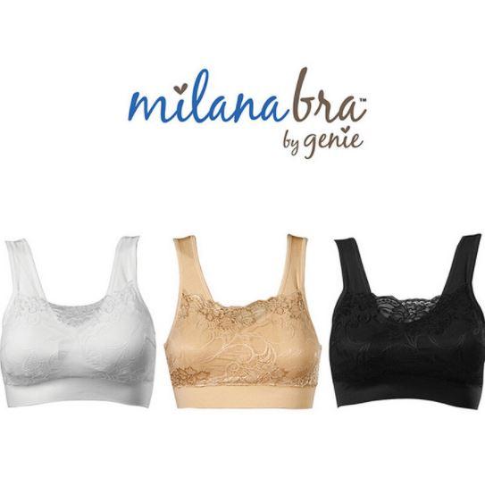 Genie Bra Milana บราลูกไม้(1 เซ็ต/3 ตัว) Size S, XL,