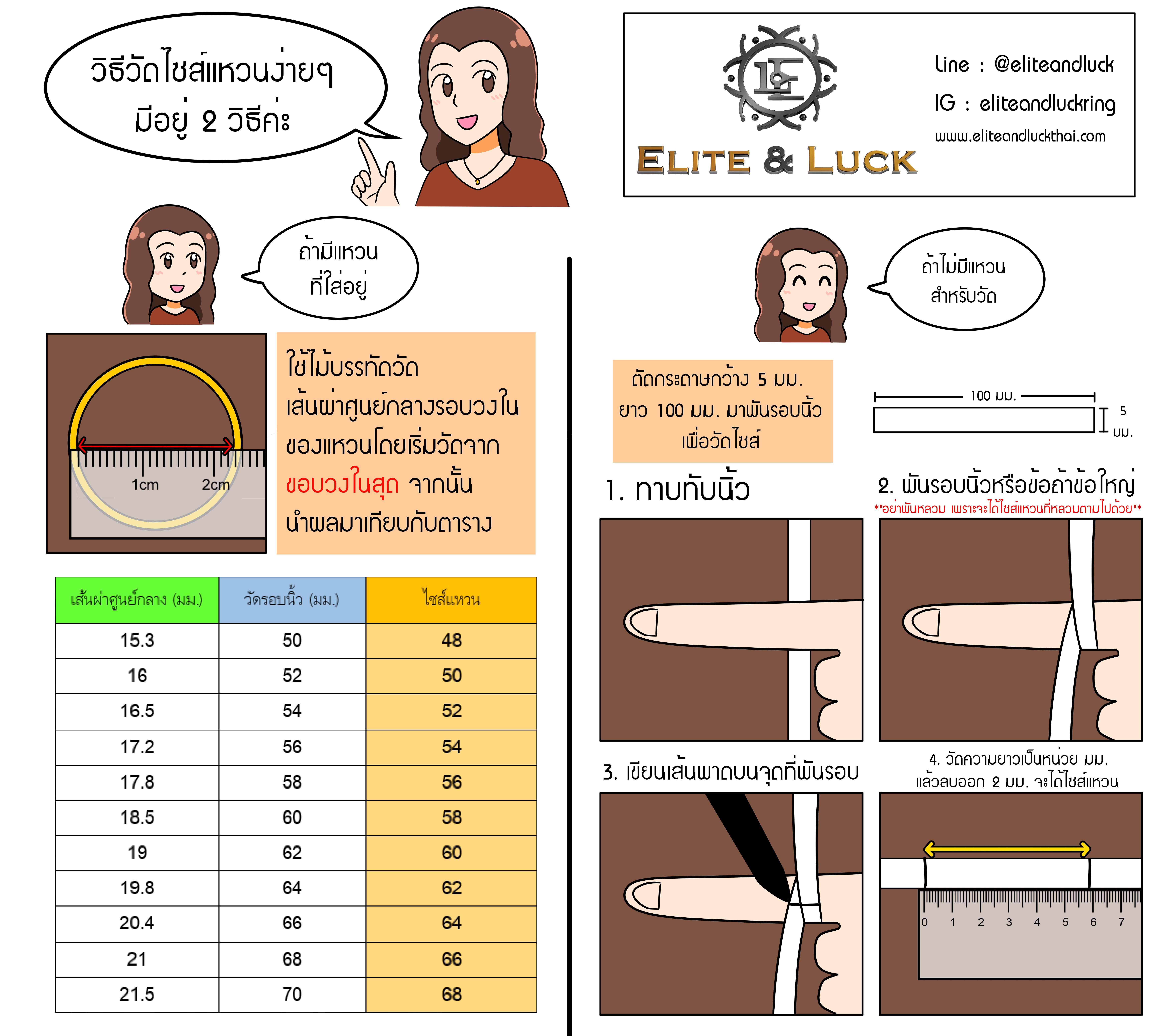 วิธีวัด Size แหวนง่ายๆ ด้วยตัวเอง by Elite & Luck
