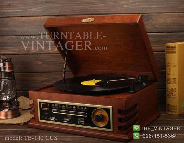 TB-140 CUS เครื่องเล่นแผ่นเสียง+ วิทยุ + CD+ USB-MP.3 + Headphone out