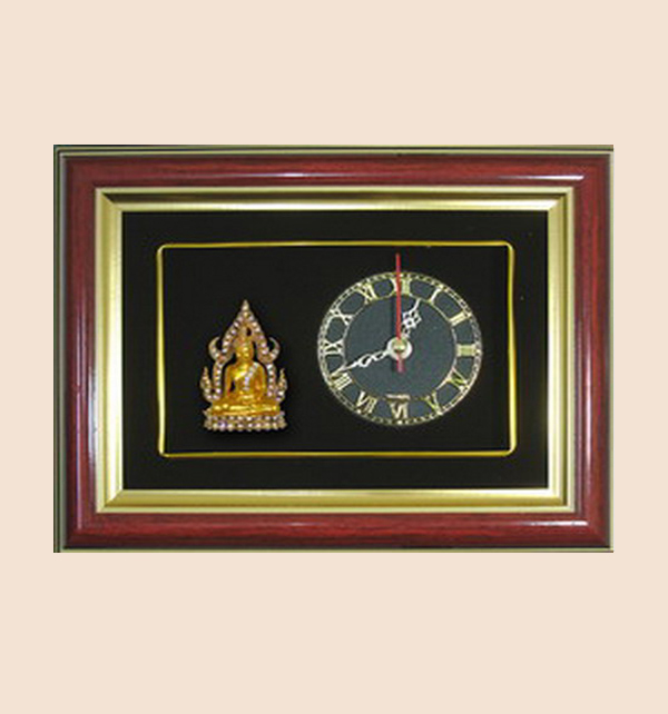ของพรีเมี่ยม กรอบนาฬิกาลายพระพุทธชินราช (ขนาด : 9 x 7 นิ้ว )