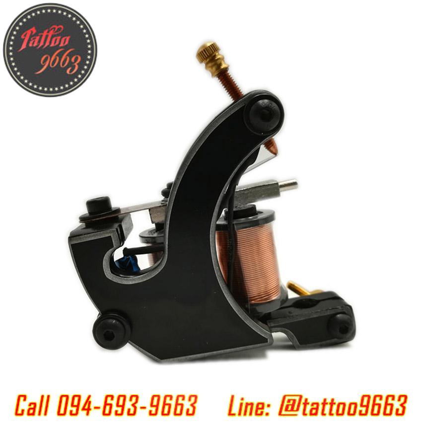 [TM3207] เครื่องสักคอย เครื่องสักคอยล์ เครื่องสักลงสี/ลงเงา เครื่องสักลายแทททู (Black Handmade 8Wrap Coils Tattoo Machine)