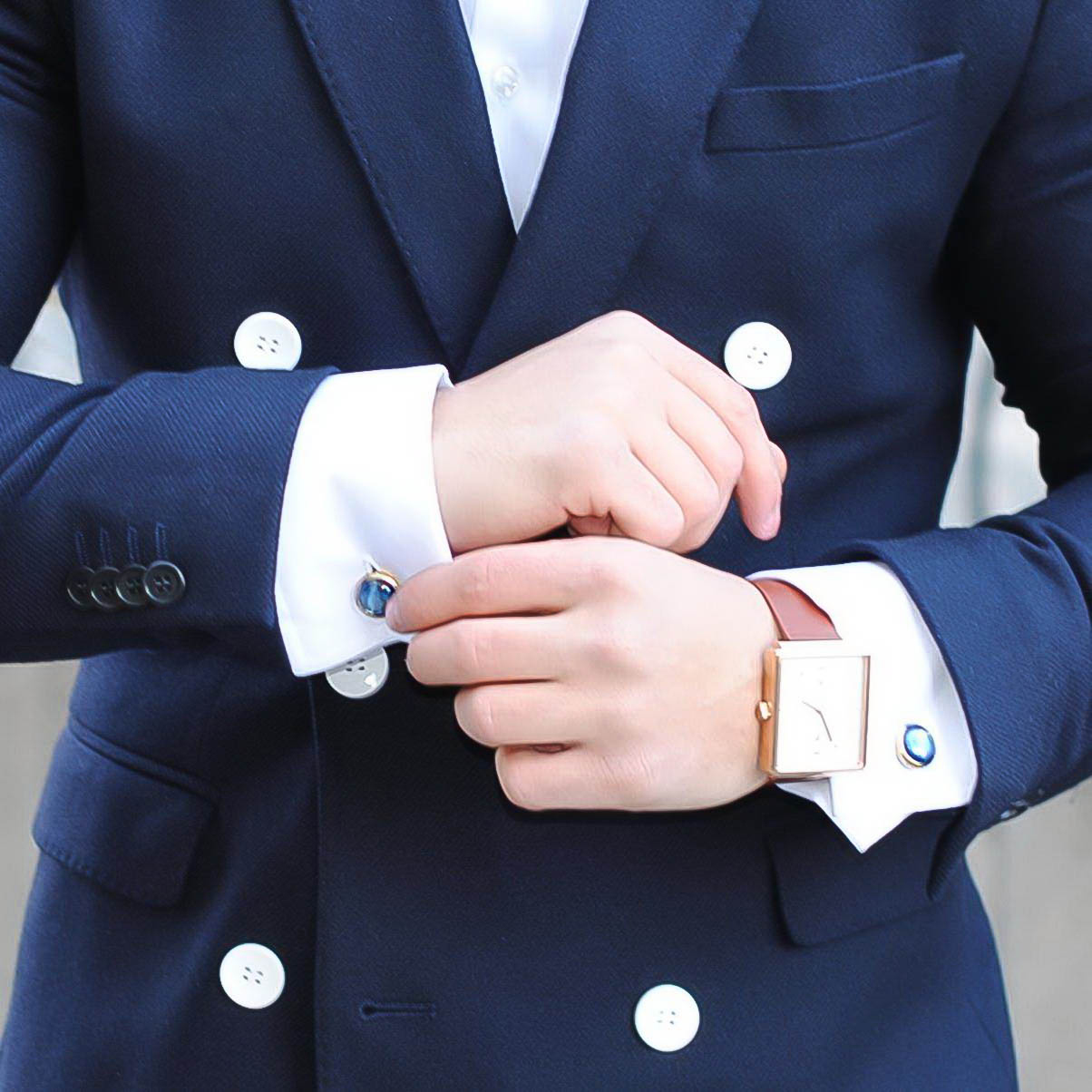 Umit Obeyd (@umitobeyd) with Elite & Luck Cufflinks