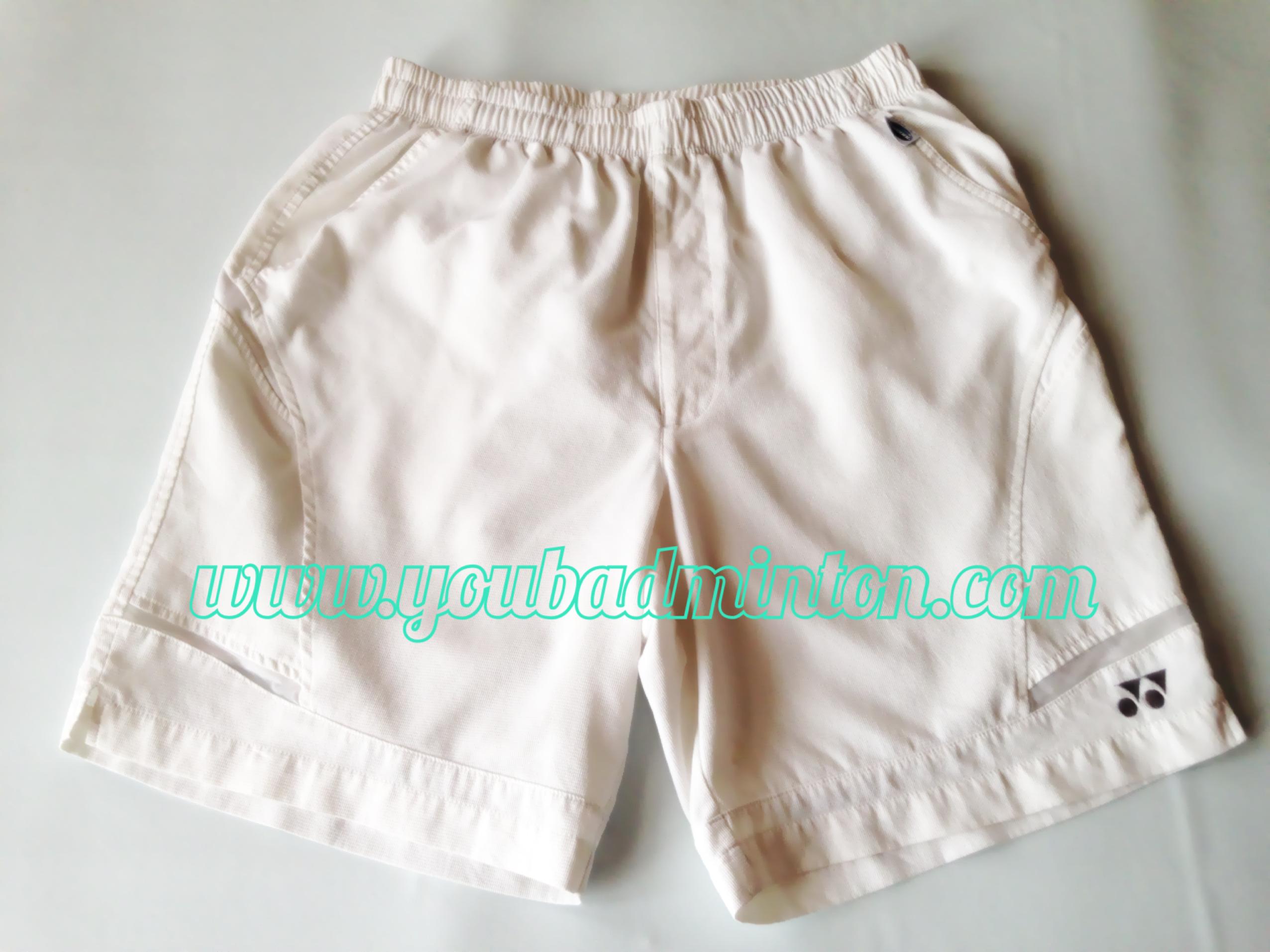กางเกงขาสั้น Yonex สีขาว Verycool มือสองสภาพดี ของแท้ 100% (Made in Japan)