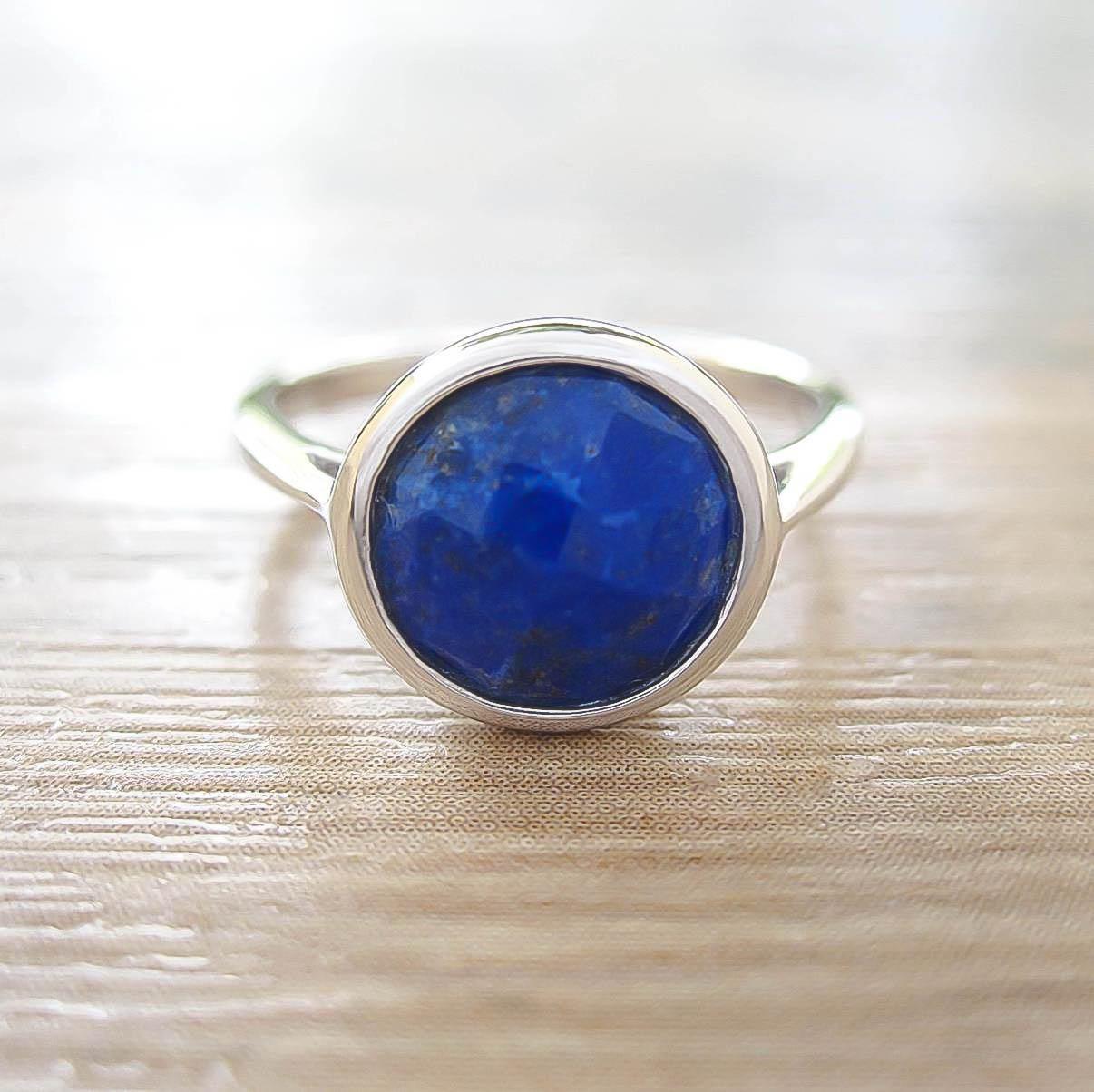 แหวน Lapis Lazuli Sterling Silver สี Rhodium รุ่น Dashing