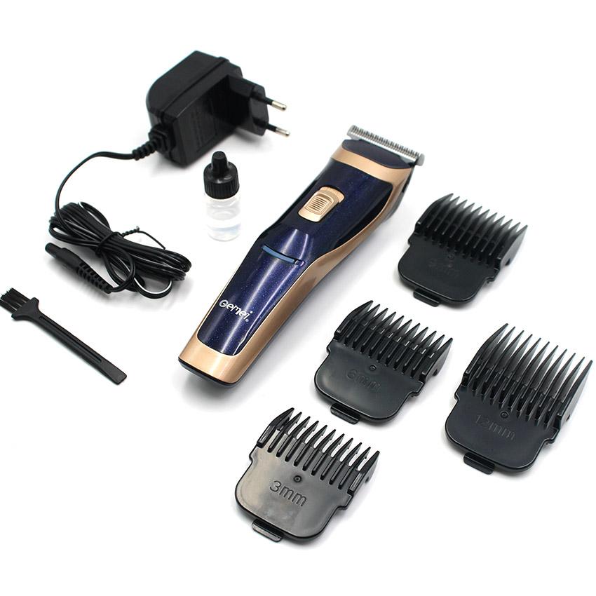 [GEMEI] ปัตตาเลี่ยนไฟฟ้าสีน้ำเงิน/ทอง แบตตาเลี่ยนไร้สาย แบตเตอร์เลี่ยนตัดผมเด็ก แบตเตอเลี่ยนตัดผมชาย อุปกรณ์แต่งผมชาย GOLDEN Titanium Steel Blade Rechargeable Professional Hair Clipper For Men & Women