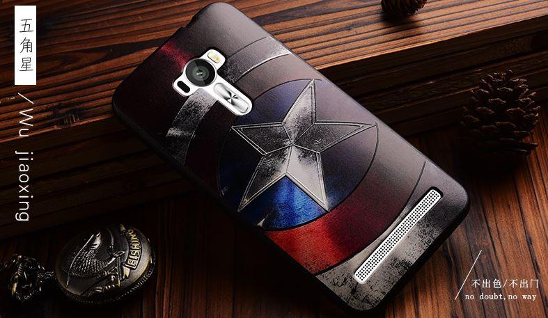 เคส asus zenfone selfie ZD551KL TPU พิมพ์ลาย 3D CAPTAIN AMERICA