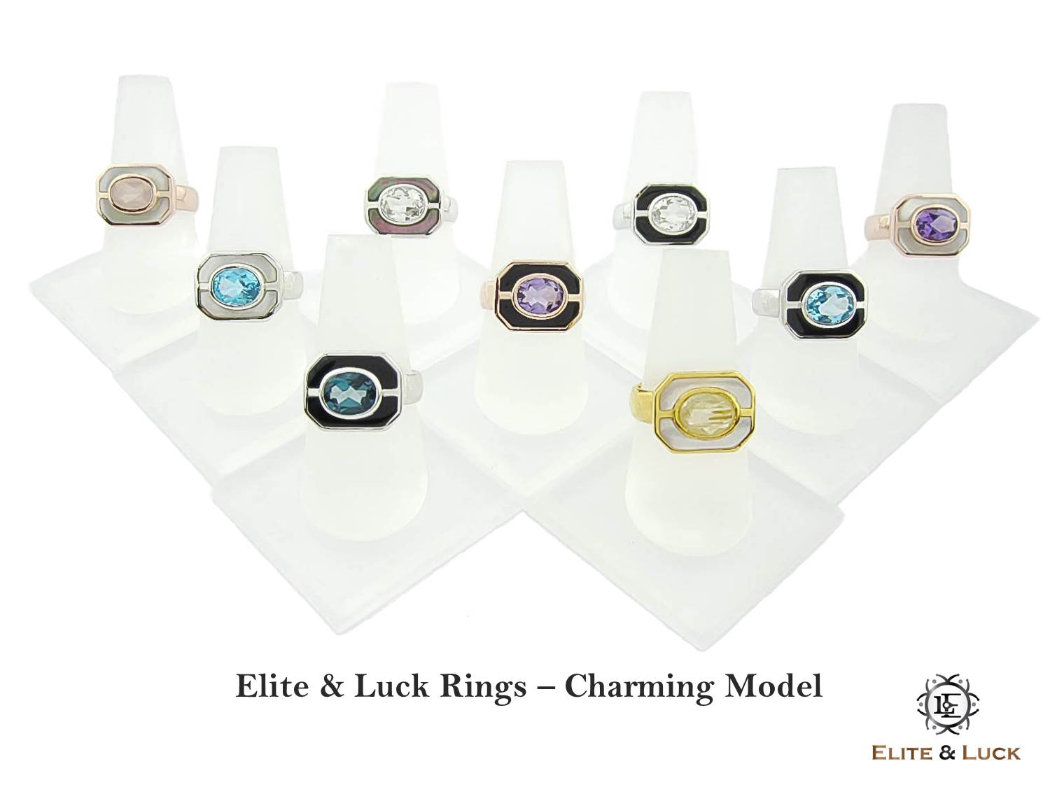 Elite & Luck Gemstone Rings for Men, Charming Model