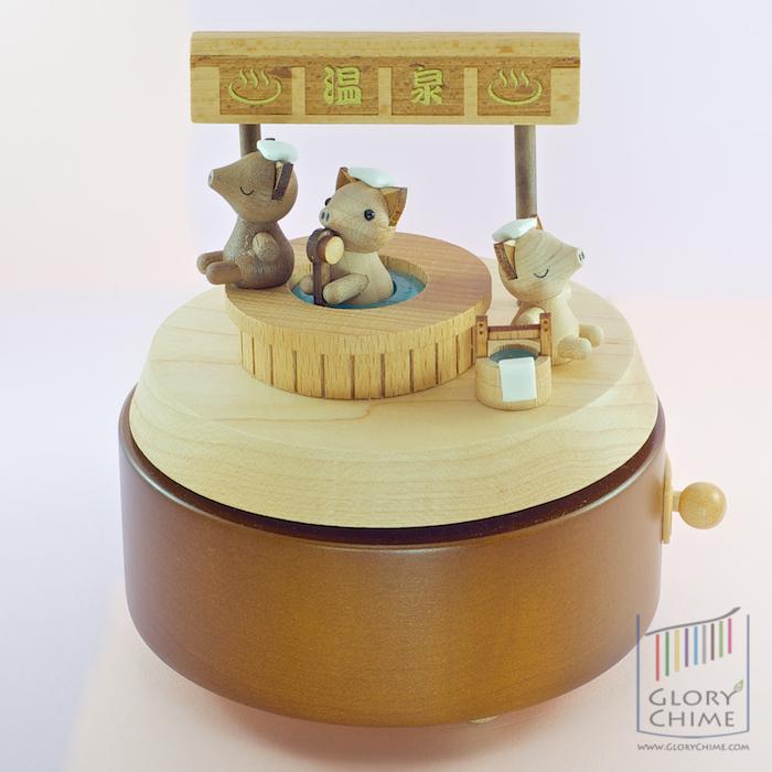 กล่องเพลง Pig In The Hot Spring ♫ Ten Little Indians (Gom Se Mari) ♫ กล่องดนตรี Wooderful Life
