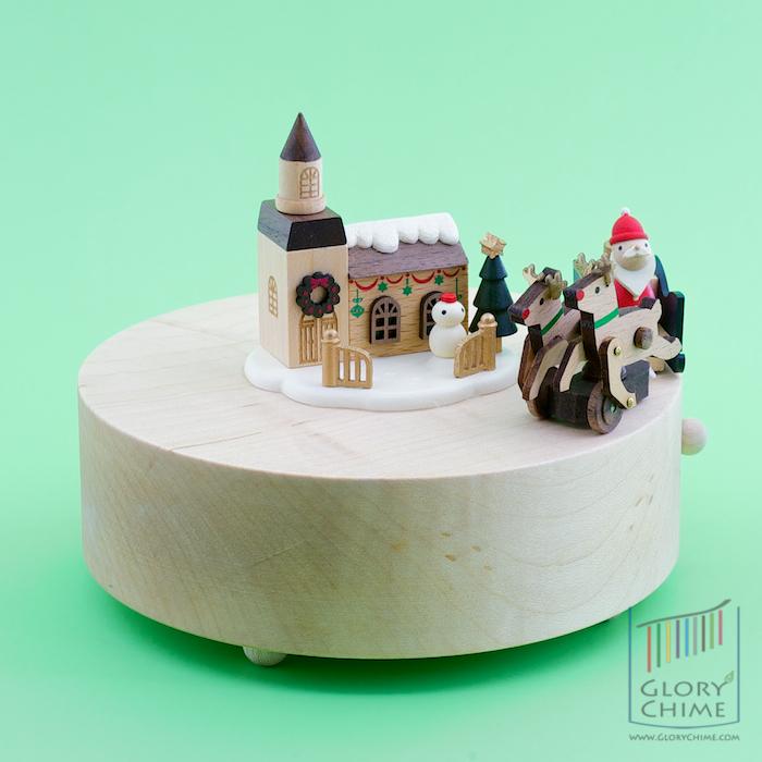 กล่องเพลง Reindeer Santa ♫ Silent Night ♫ กล่องดนตรี Wooderful Life