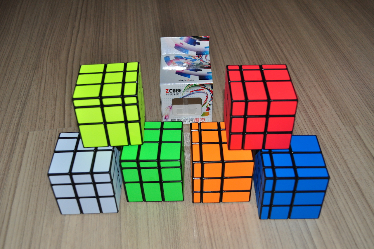 Z Cube Mirror Cube with Cloth Sticker