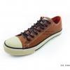 [พร้อมส่ง] รองเท้าผ้าใบแฟชั่น รุ่น 888 สีตาลแทน แบบหนัง