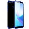 (พรีออเดอร์) เคส Huawei/Y9 2018-เคส TPU นิ่มขอบสี