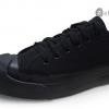 [พร้อมส่ง]รองเท้าผ้าใบแฟชั่น LEO JACK สีดำล้วน