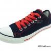 [พร้อมส่ง] รองเท้าผ้าใบแฟชั่น รุ่น 955 สียีนส์ริมแดง