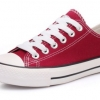 [พร้อมส่ง]รองเท้าผ้าใบแฟชั่น สี เลือดหมู รุ่น 191