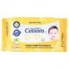 คัสสัน เบบี้ แผ่นเช็ดทำความสะอาด ทิชชู่เปียก สูตรดูแลและปกป้อง ปราศจากแอลกอฮอลล์ (Cussons Baby Alcohol Free Cares & Protects