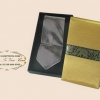 ของพรีเมี่ยมเนคไทผ้าไหม (ม่วงเทา) พร้อมกล่องผ้าไหม ขนาด 4 x 53 นิ้ว