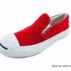 [พร้อมส่ง] รองเท้าผ้าใบแฟชั่น รุ่น Jack Leo แบบสวม สีแดง