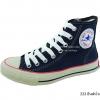 [พร้อมส่ง] รองเท้าผ้าใบแฟชั่น รุ่น 222 สียีนส์น้ำเงิน ทรงหุ้มข้อ
