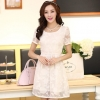 ชุดทำงานสวยๆ ชุดเดรสสั้น สีขาว ให้ลุคสาวหวานสไตล์เกาหลี สวยหรู ดูดี เรียบร้อย ( S,M,L,XL )