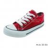 [พร้อมส่ง] รองเท้าผ้าใบเด็กแฟชั่น รุ่น M-six สีแดง
