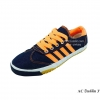 [พร้อมส่ง] รองเท้าผ้าใบแฟชั่น รุ่น AC สียีนส์ส้ม