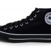 [พร้อมส่ง]รองเท้าผ้าใบแฟชั่น บูทหุ้มข้อ สีดำ-ขอบขาว รุ่น 222