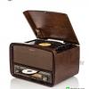 TR-280 CU เครื่องเล่นแผ่นเสียง+ วิทยุโบราณ + CD+ USB-MP3 + AUX Input + HI-FI สำเนา
