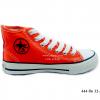[พร้อมส่ง] รองเท้าผ้าใบเด็กแฟชั่น รุ่น 444 สีส้ม (หุ้มข้อ)