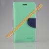 เคส asus zenfone 2 laser 5.5 ze550kl ฝาพับ mercury fancy diary case สีเขียว-น้ำเงิน