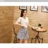 ชุดเดรสแฟชั่นเกาหลี ชุดเดรสน่ารัก ชุดเชตแฟชั่นน่ารัก ๆ ชุดเชตเสื้อสีขาว + กระโปรงสั้นลายดอกไม้ ( M, L, XL )