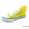 [พร้อมส่ง] รองเท้าผ้าใบเด็กแฟชั่น รุ่น 444 สีเหลือง (หุ้มข้อ)