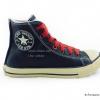 [พร้อมส่ง] รองเท้าผ้าใบแฟชั่น (หุ้มข้อ) รุ่น 3K สีน้ำตาล รมควัน แบบหนัง
