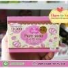 สบู่เจลลี่ Pure Soap หัวเชื้อผิวขาว100% Pure Soap By Jellys ราคาส่ง 3 ก้อน ก้อนละ 70 บาท/6 ก้อน ก้อนละ 65 บาท/12 ก้อน ก้อนละ 60 บาท/24 ก้อน ก้อนละ 55 บาท ขายเครื่องสำอาง อาหารเสริม ครีม ราคาถูก ปลีก-ส่ง ของแท้ 100%